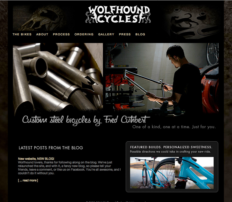 Wolfhound Cycles homepage