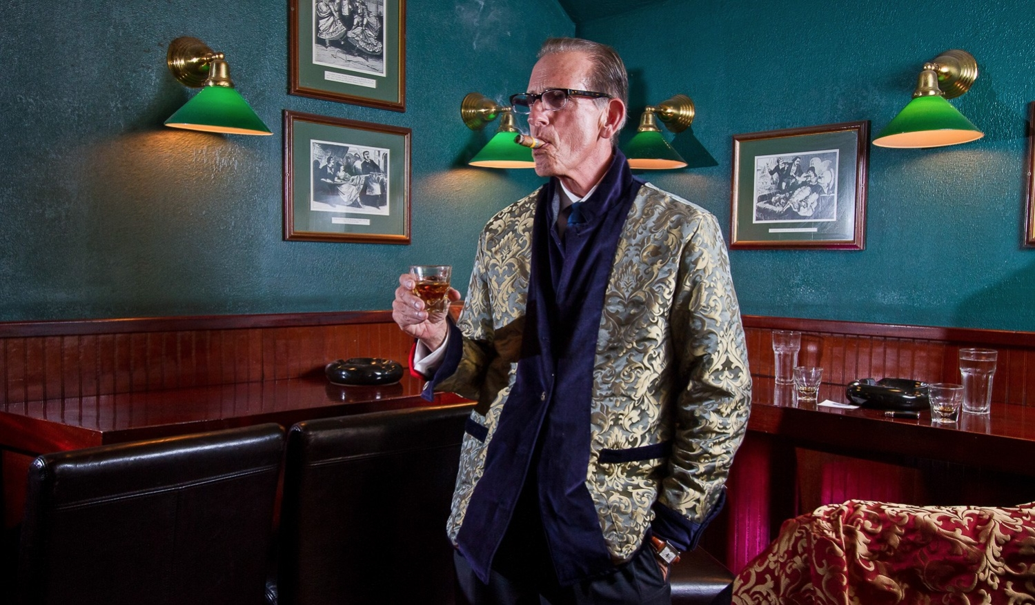 Betabrand reversible smoking jackets
