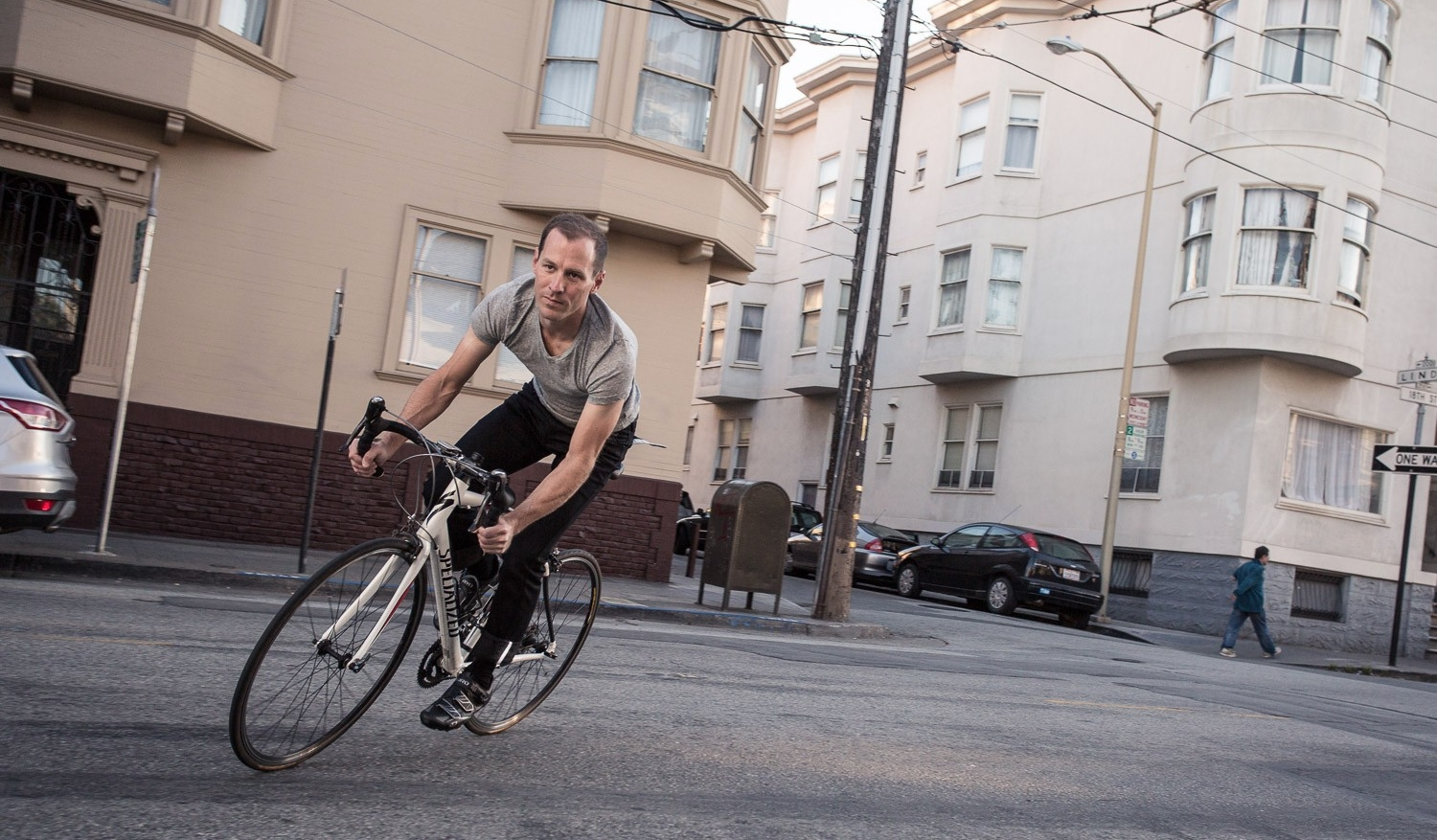 black Betabrand Bike to Work Britches Jeans