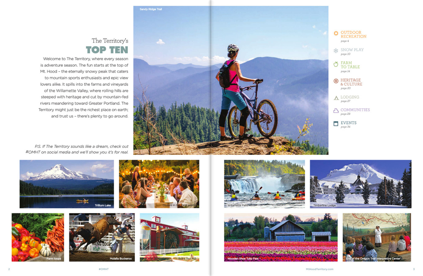 Splash page on the 2015 Travel Planner