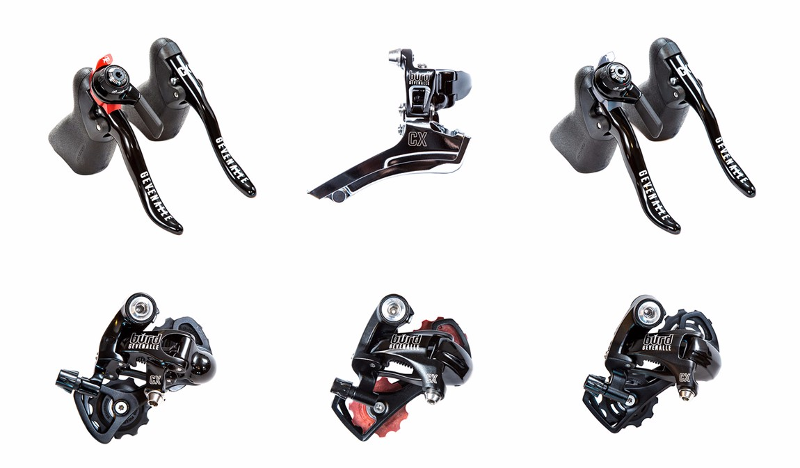 Product photography of Gevenalle cycling components