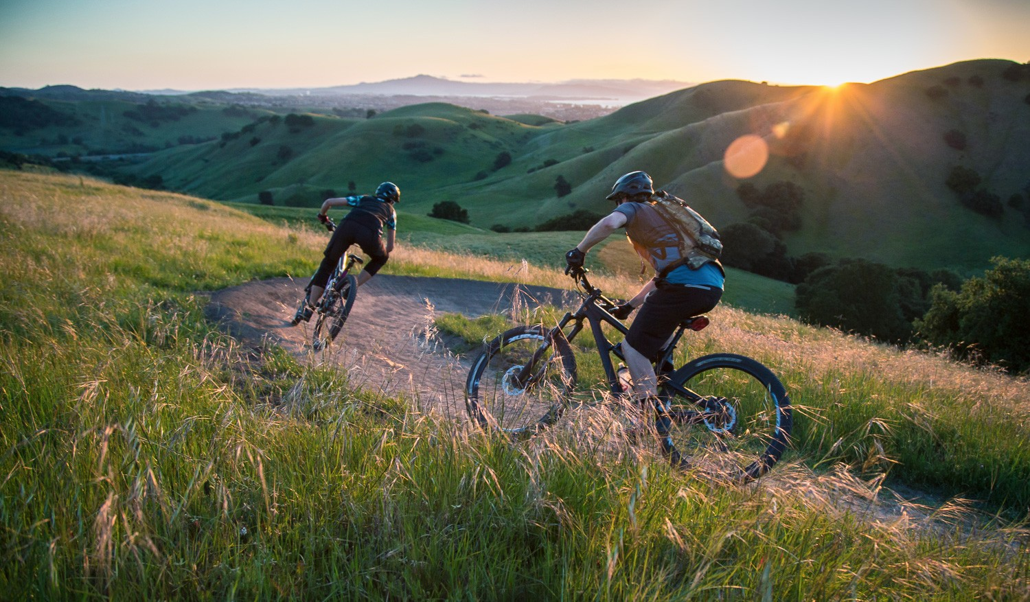 mountain bikers at Crockett Hills Regional Park